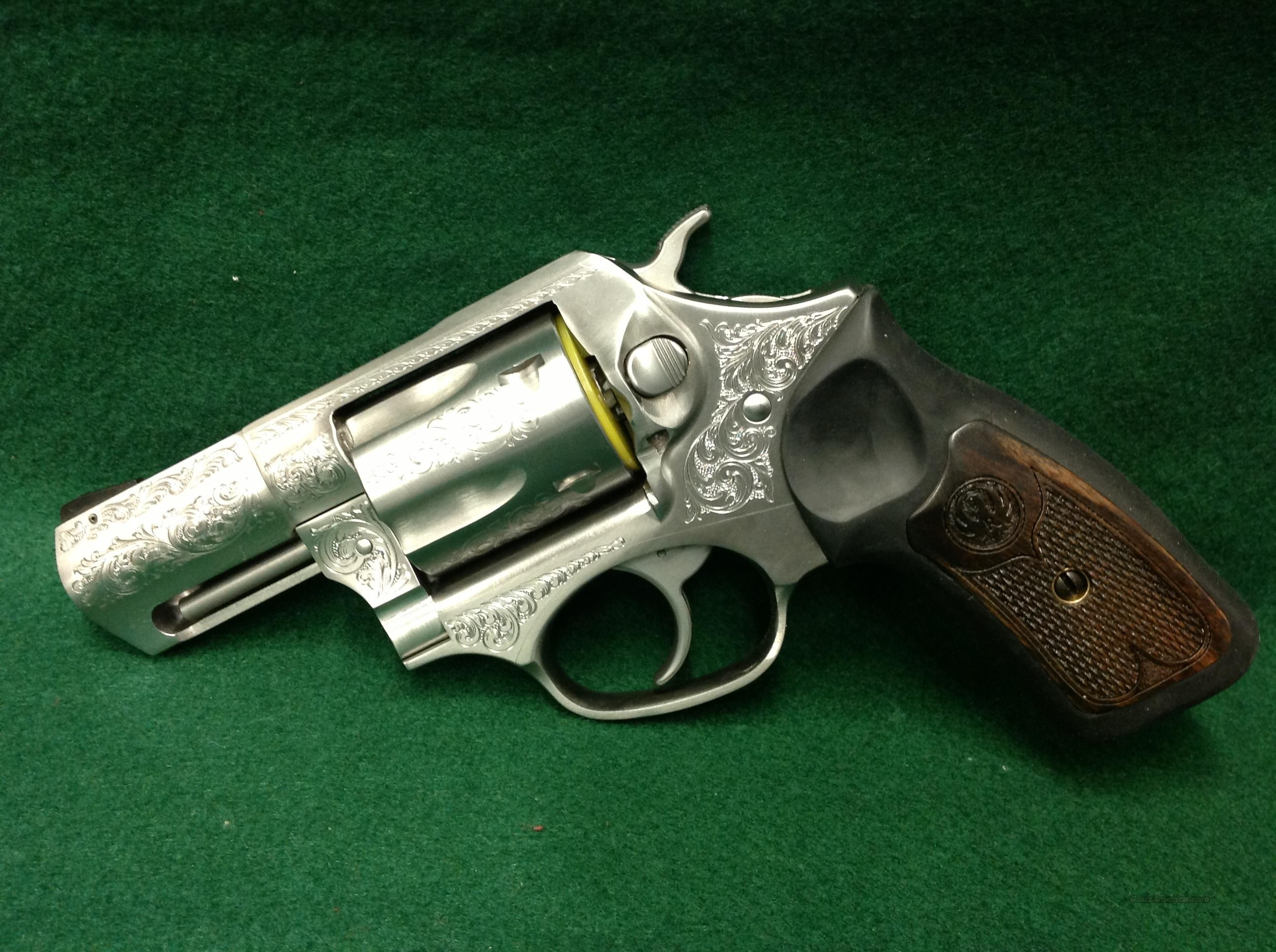 Ruger SP101 .357 Magnum ENGRAVED  Guns > Pistols > Ruger Double Action Revolver > SP101 Type