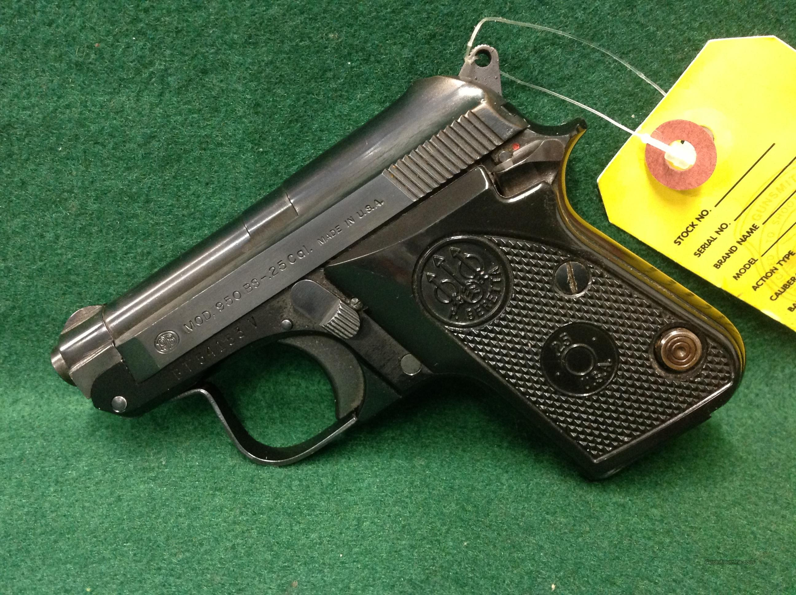 Beretta 950BS  Guns > Pistols > Beretta Pistols > Small Caliber Tip Out