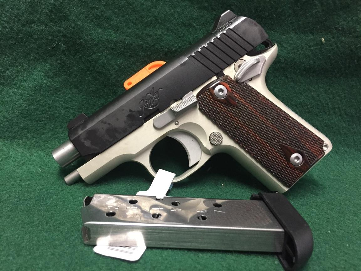 Kimber Micro Carry Two-Tone Rosewood Grips Guns > Pistols >  Kimber of America Pistols > Micro