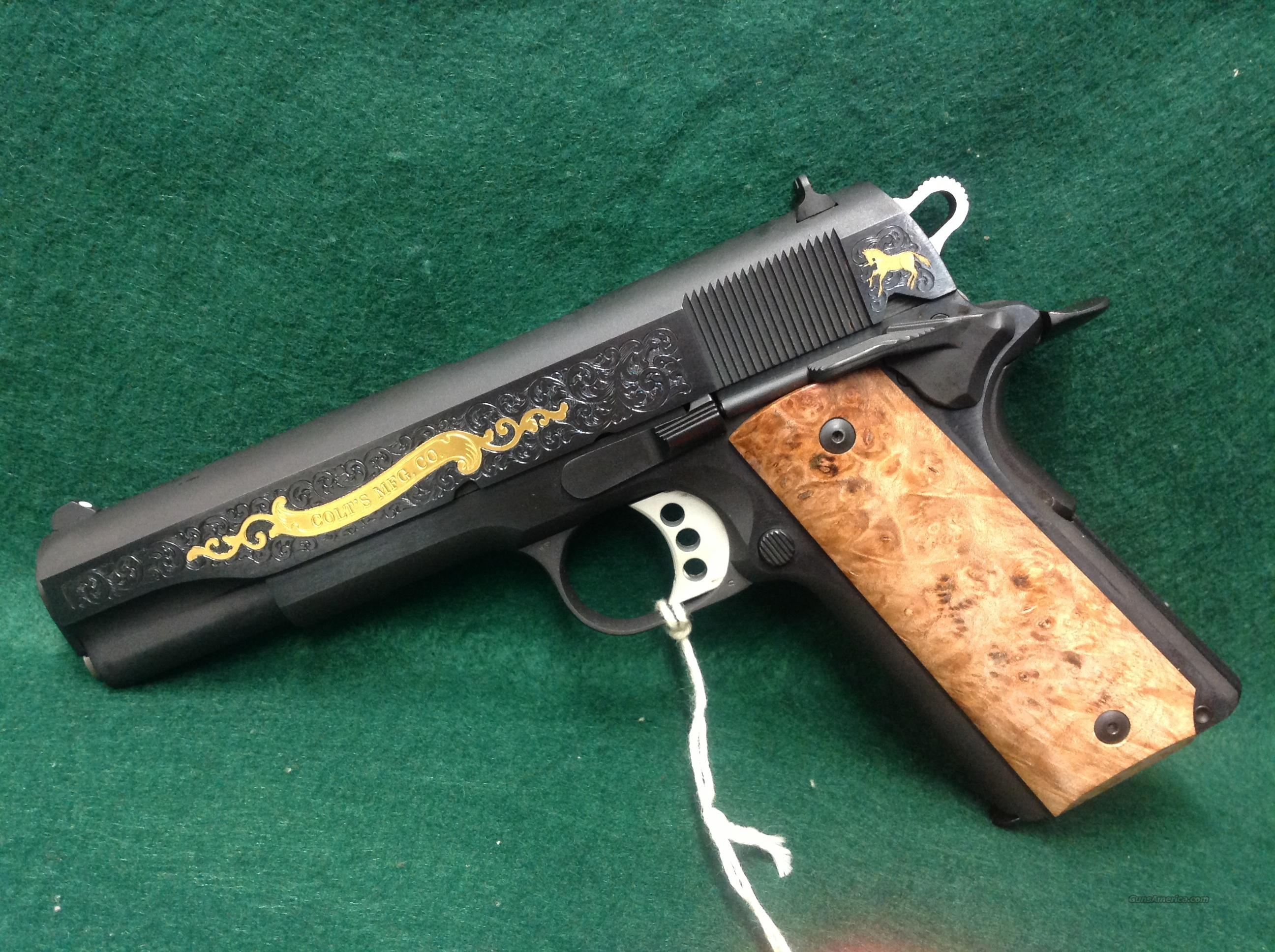 Colt Government Model 45 W/ Gold Engraving  Guns > Pistols > Colt Automatic Pistols (1911 & Var)
