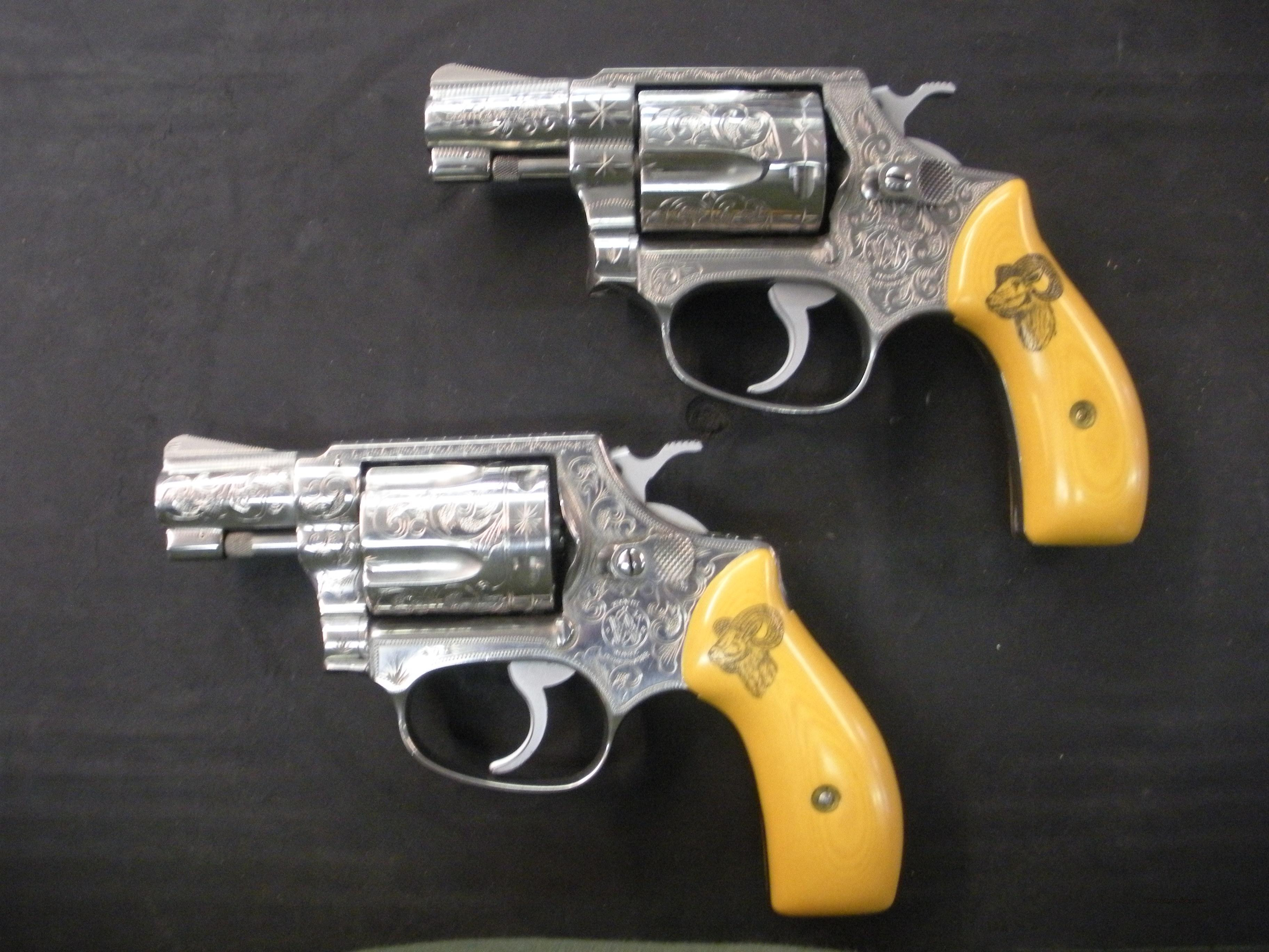 PAIR of Engraved S&W 60's  Guns > Pistols > Smith & Wesson Revolvers > Performance Center