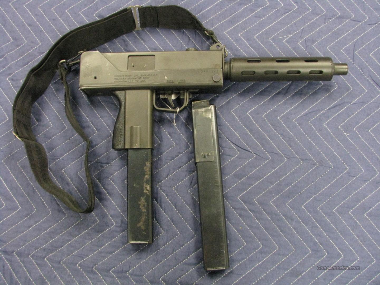 Ingram Mac-10 M10A1 for parts +(2) mags .45ACP  Guns > Pistols > Mac-10 Pistols