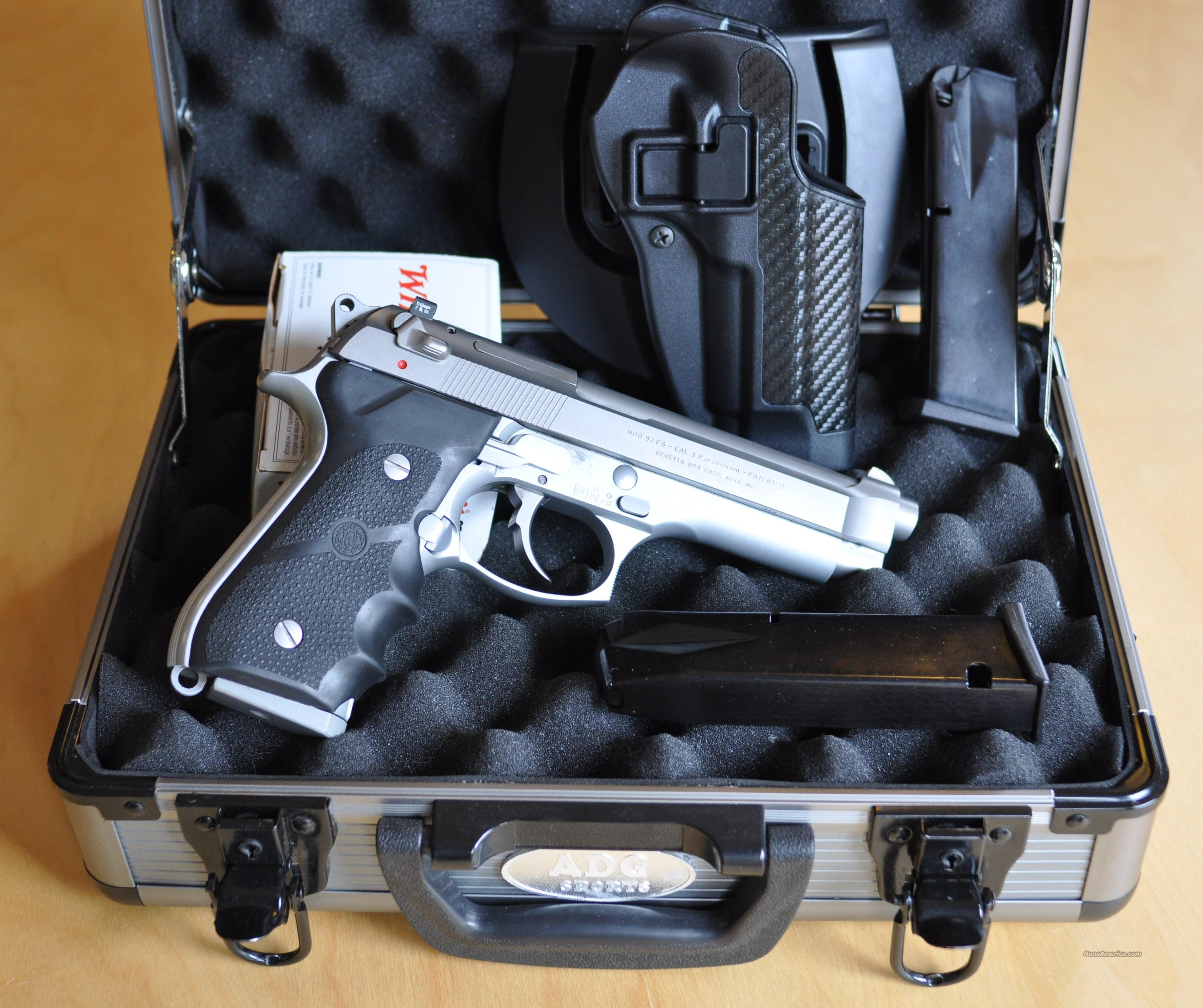 Beretta 92FS Stainless Steel SS  Guns > Pistols > Beretta Pistols > Model 92 Series