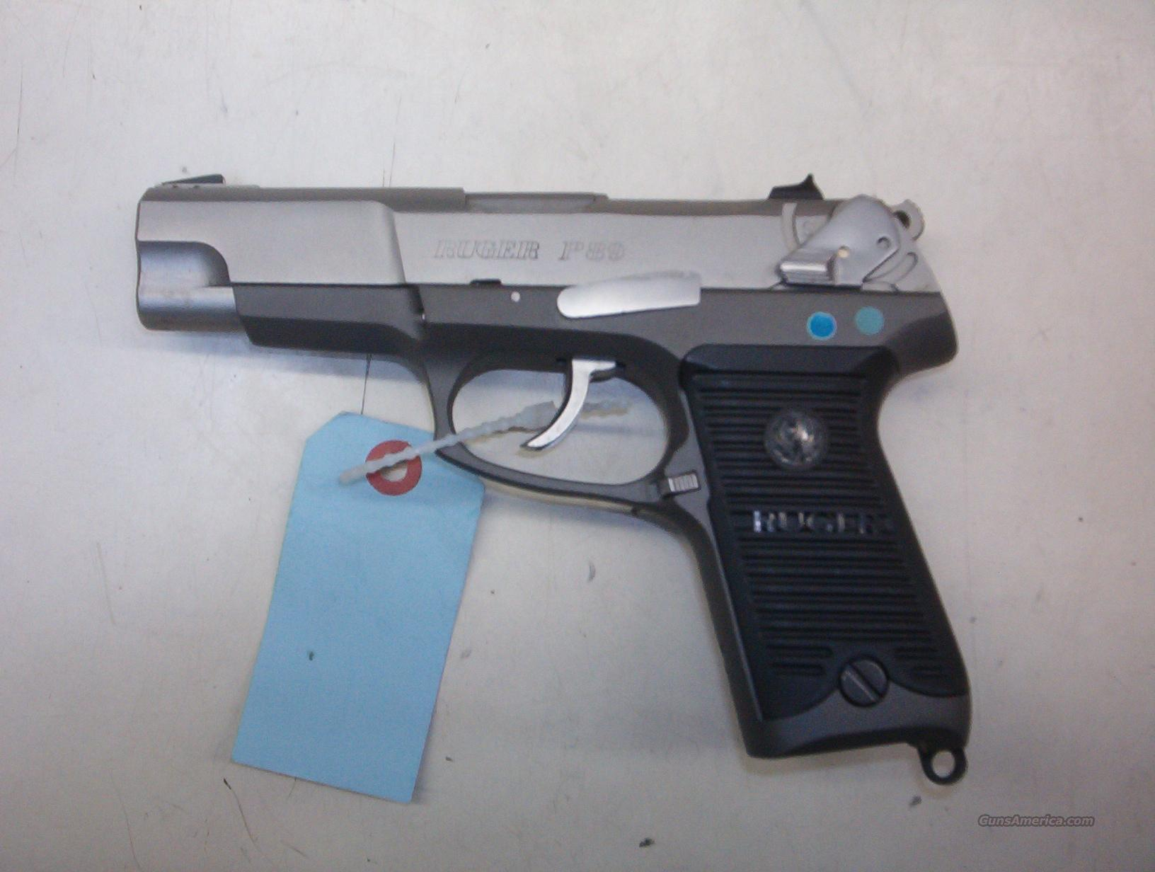 RUGER P89 STAINLESS 9MM WITH CONVERTIBLE 7.65 LUGER BARREL MADE ONLY ONE YEAR  Guns > Pistols > Ruger Semi-Auto Pistols > P-Series