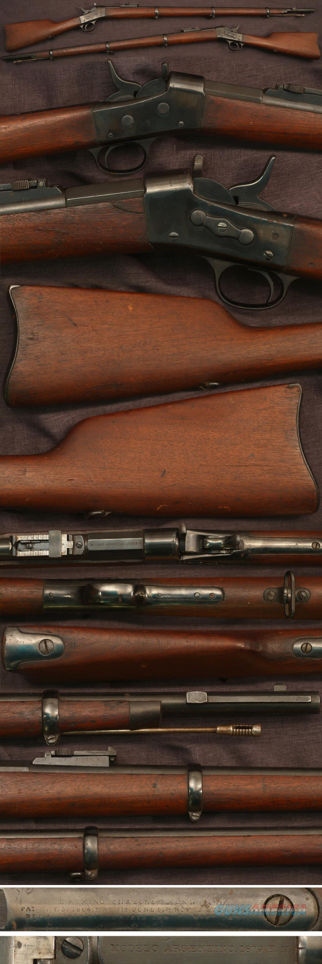 Argentine M1879 Rolling Block rifle  Guns > Rifles > Remington Rifles - Pre-1899