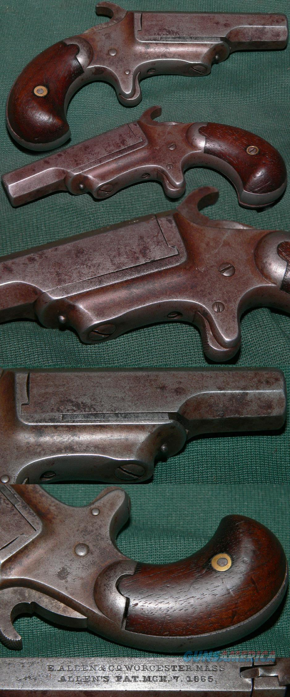 E.Allen & Co. 41 caliber deringer  Guns > Pistols > Antique (Pre-1899) Pistols - Ctg. Misc.