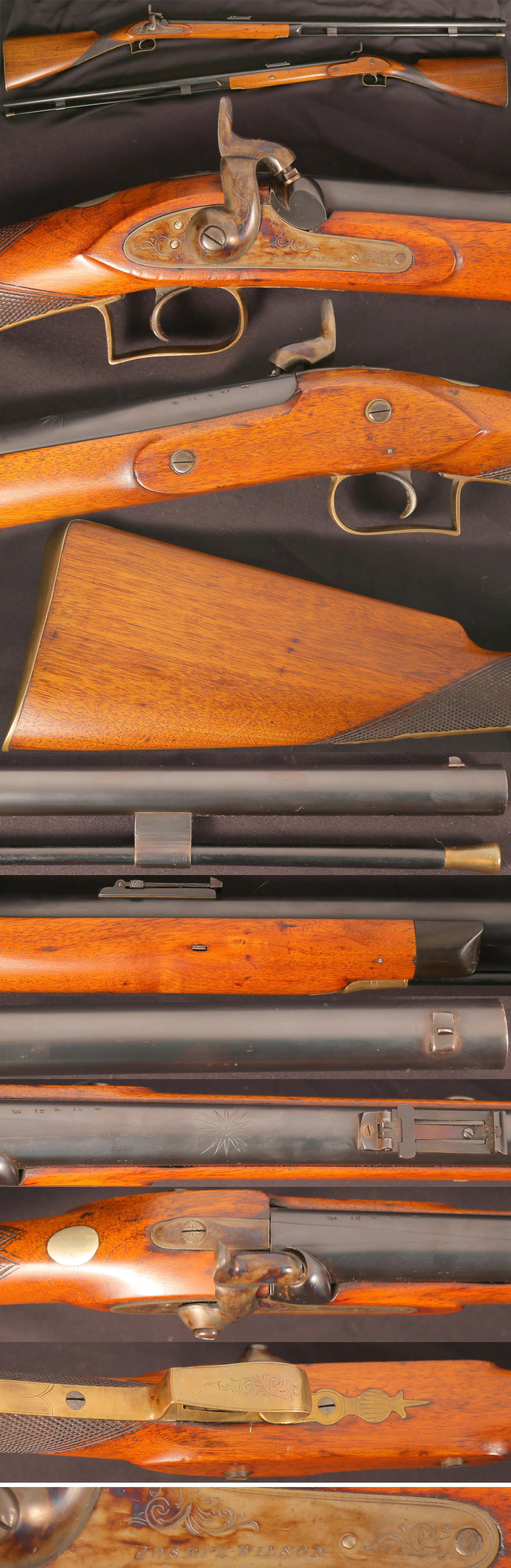 English Express 12 bore big game rifle by Joseph Wilson London  Guns > Rifles > Muzzleloading Pre-1899 Rifles (perc)