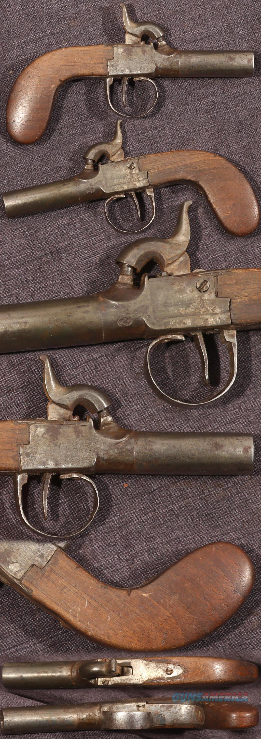 Continental percussion box lock pistol  Guns > Pistols > Muzzleloading Pre-1899 Pistols (perc)