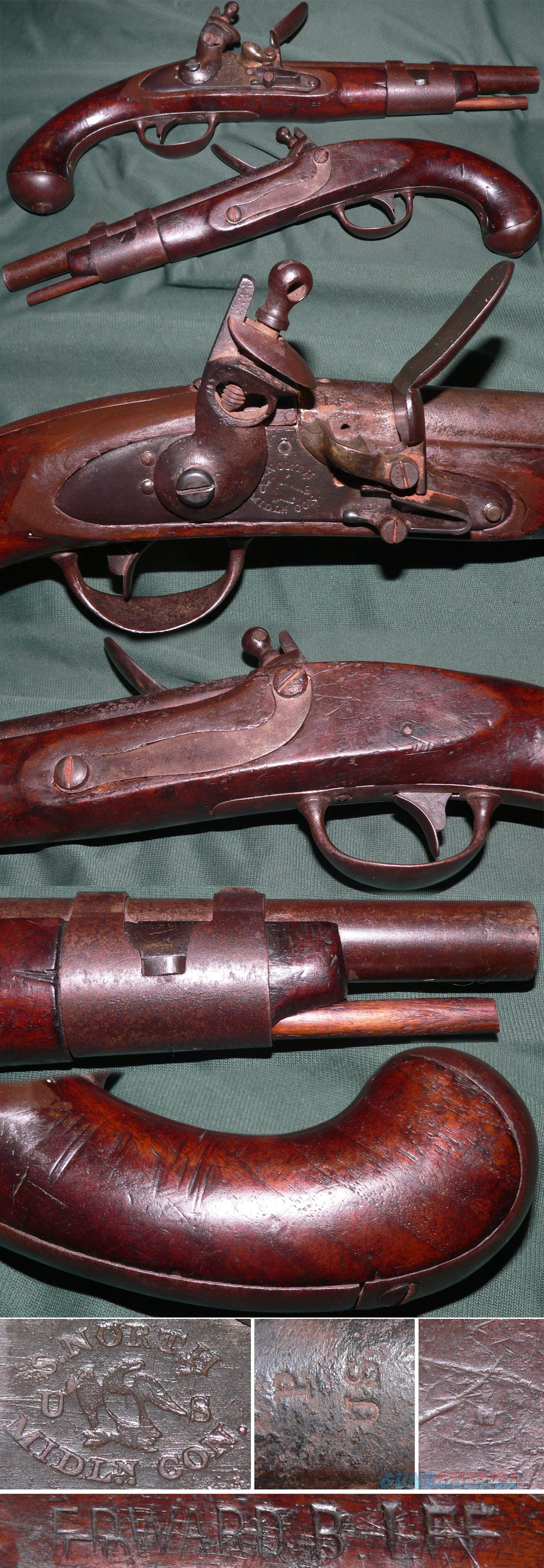 M1816 flintlock US martial pistol by Simeon North  Guns > Pistols > Muzzleloading Pre-1899 Pistols (flint)