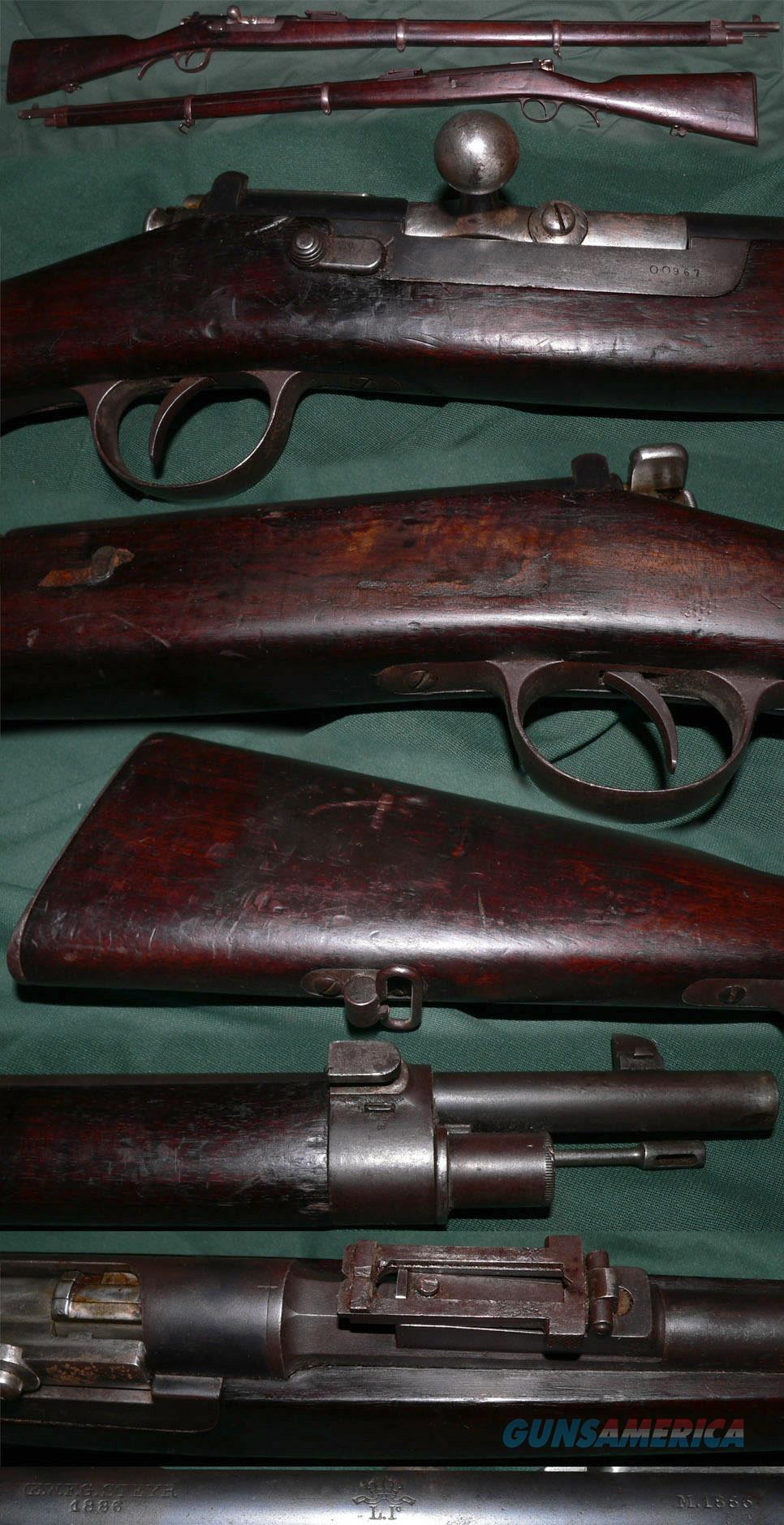 Portuguese M1886 Steyr Kropatschek bolt action rifle  Guns > Rifles > Antique (Pre-1899) Rifles - Ctg. Misc.