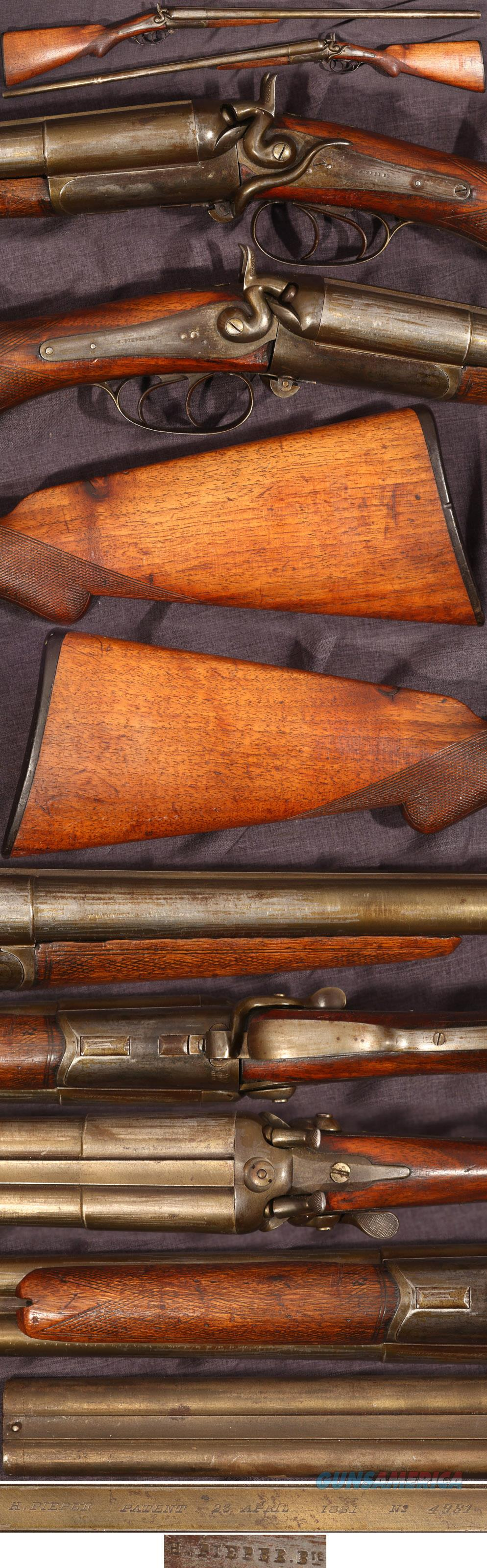 Henri Pieper double barrel cartridge shotgun  Guns > Shotguns > Antique (Pre-1899) Shotguns - Misc.