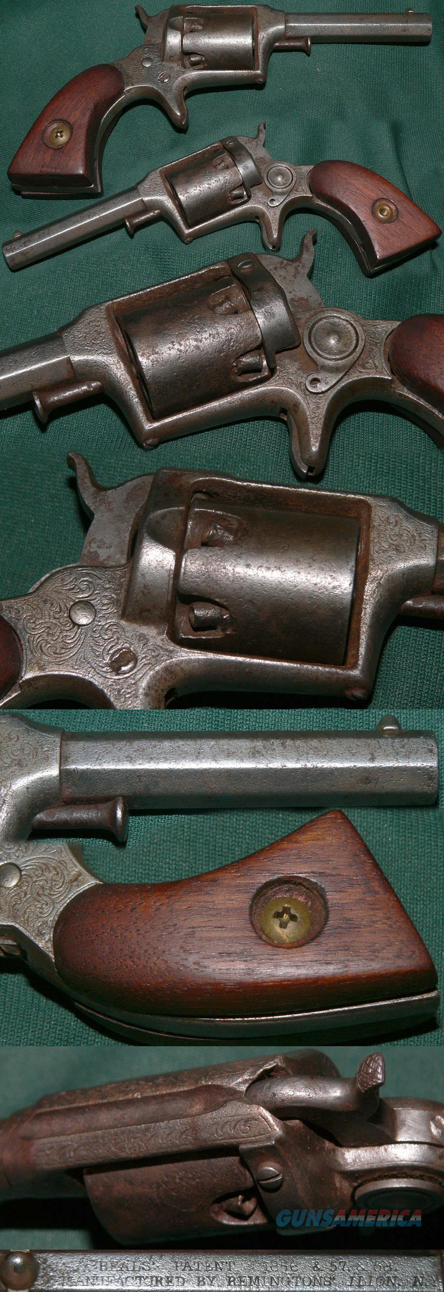 Remington-Beals 2nd Model percussion pocket revolver  Guns > Pistols > Remington Pistols - Pre-1899