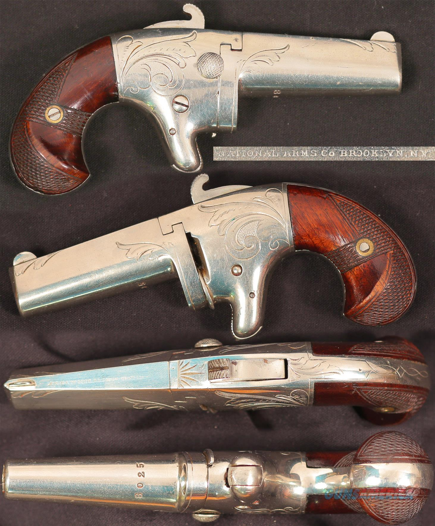 National Arms No 2 derringer  Guns > Pistols > Antique (Pre-1899) Pistols - Ctg. Misc.