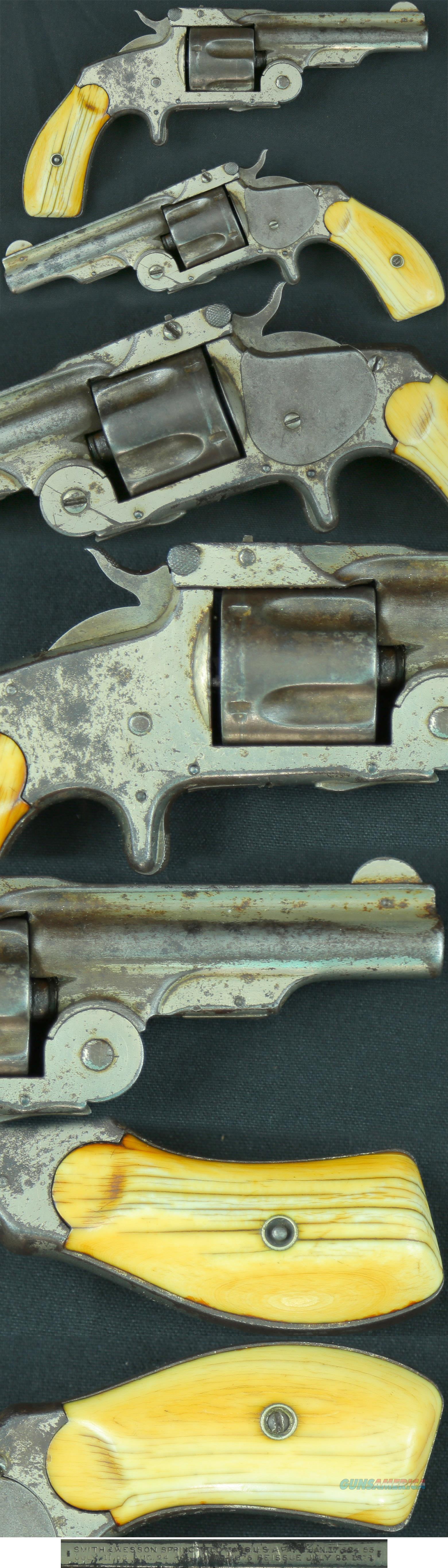 """Smith & Wesson 1st Model 38CF """"Baby Russian"""" SA revolver  Guns > Pistols > Smith & Wesson Revolvers > Pre-1899"""