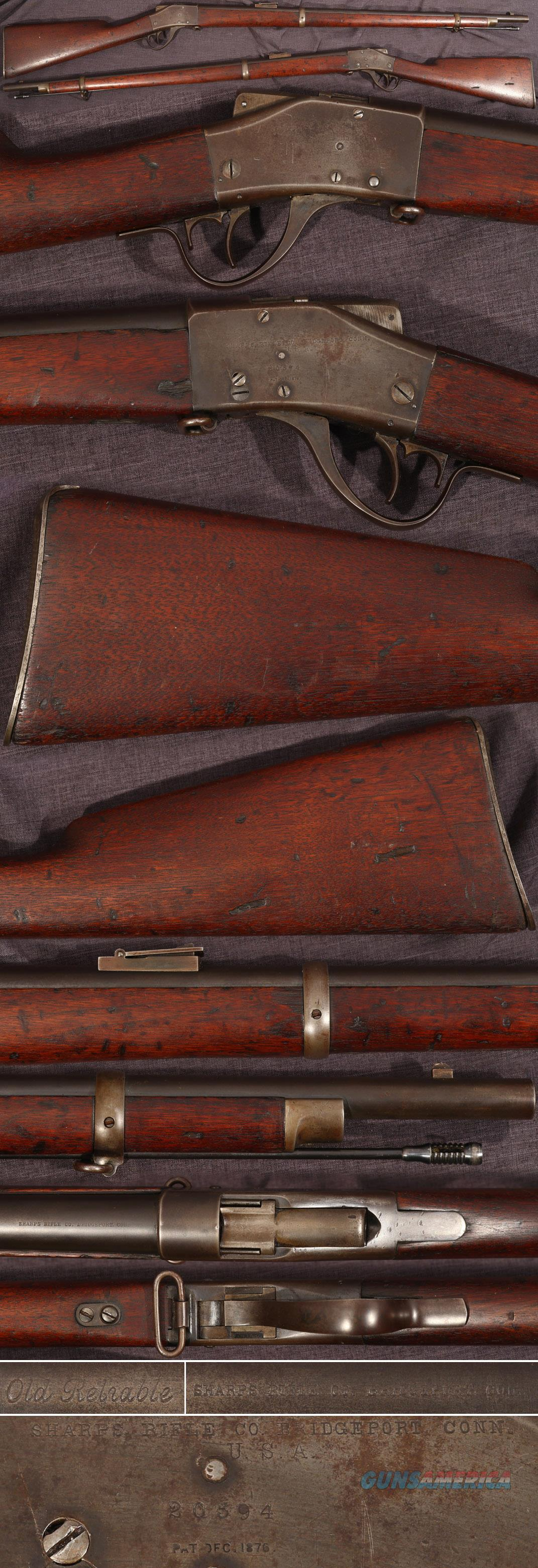 M1878 Sharps-Borchardt 45-70 military rifle  Guns > Rifles > Sharps Rifles - Pre-1899