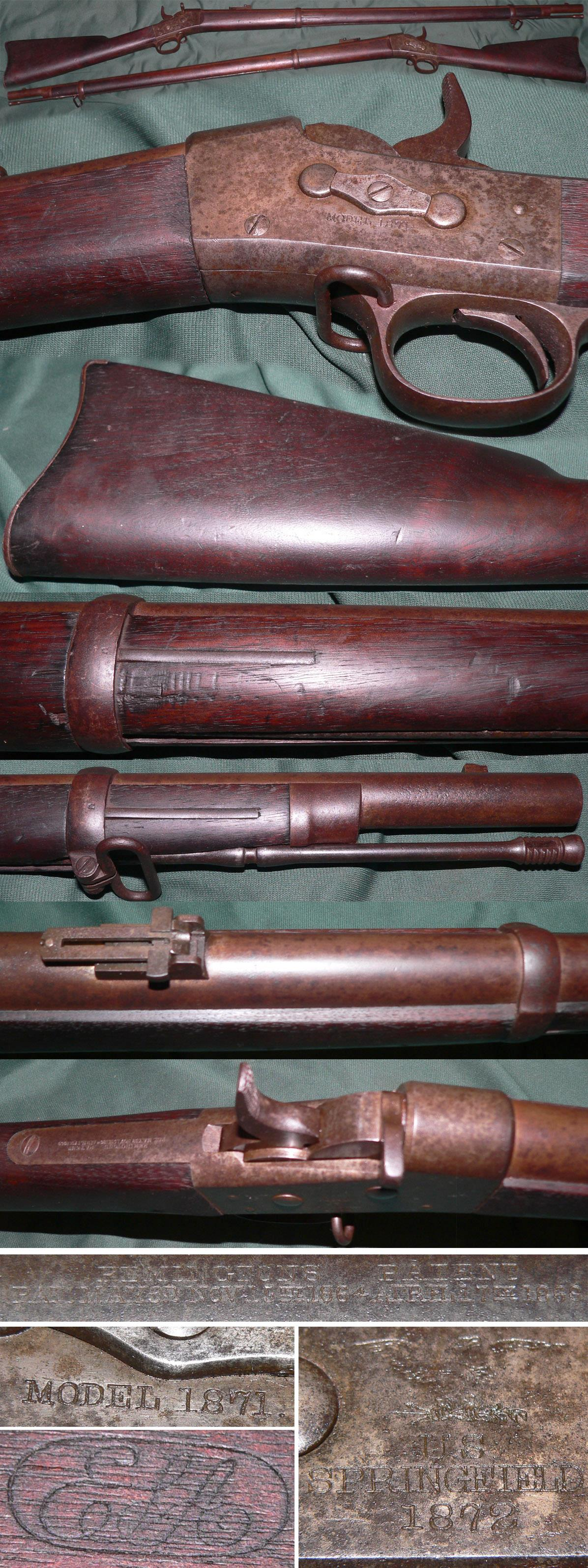 M1871 US Springfield Army rolling block rifle  Guns > Rifles > Antique (Pre-1899) Rifles - Ctg. Misc.