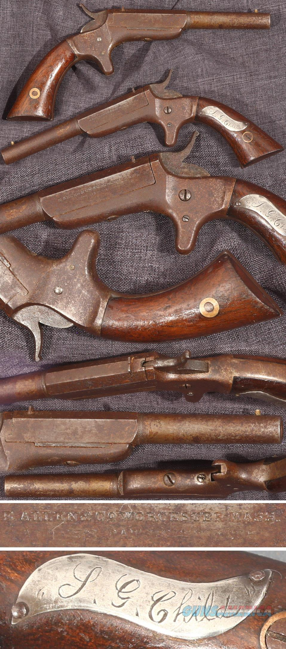 E. Allen & Co single shot 22 derringer  Guns > Pistols > Antique (Pre-1899) Pistols - Ctg. Misc.
