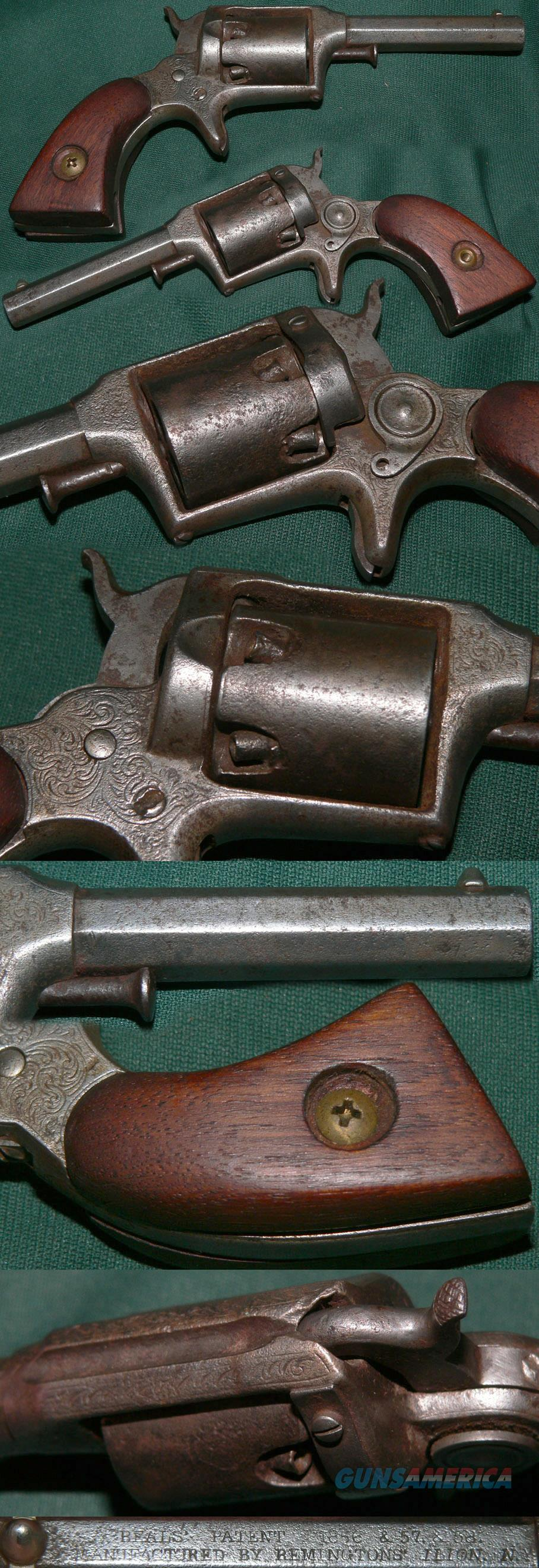 Remington-Beals 2nd Model percussion pocket revolver  Guns > Pistols > Remington Pistols - Pre-1899