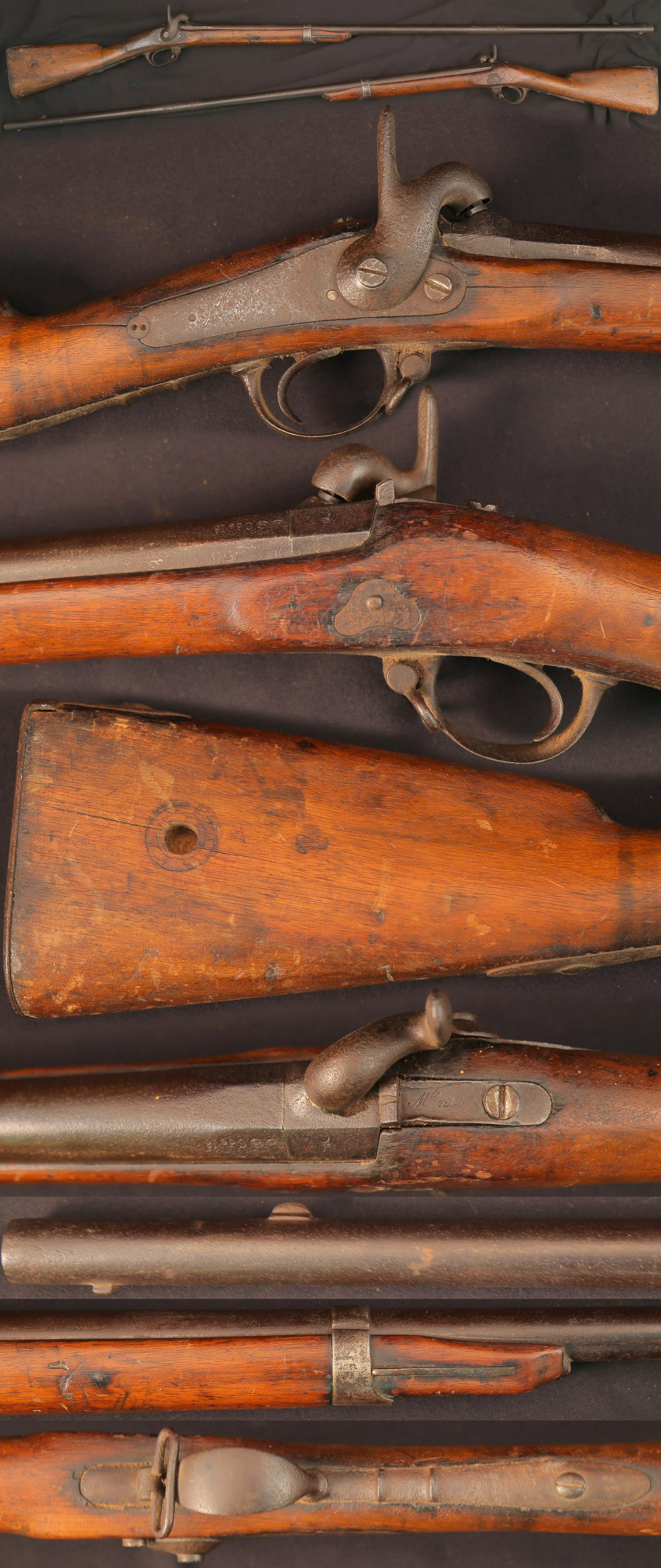 French Mle 1840 percussion musket, shortened  Guns > Rifles > Muzzleloading Pre-1899 Rifles (perc)