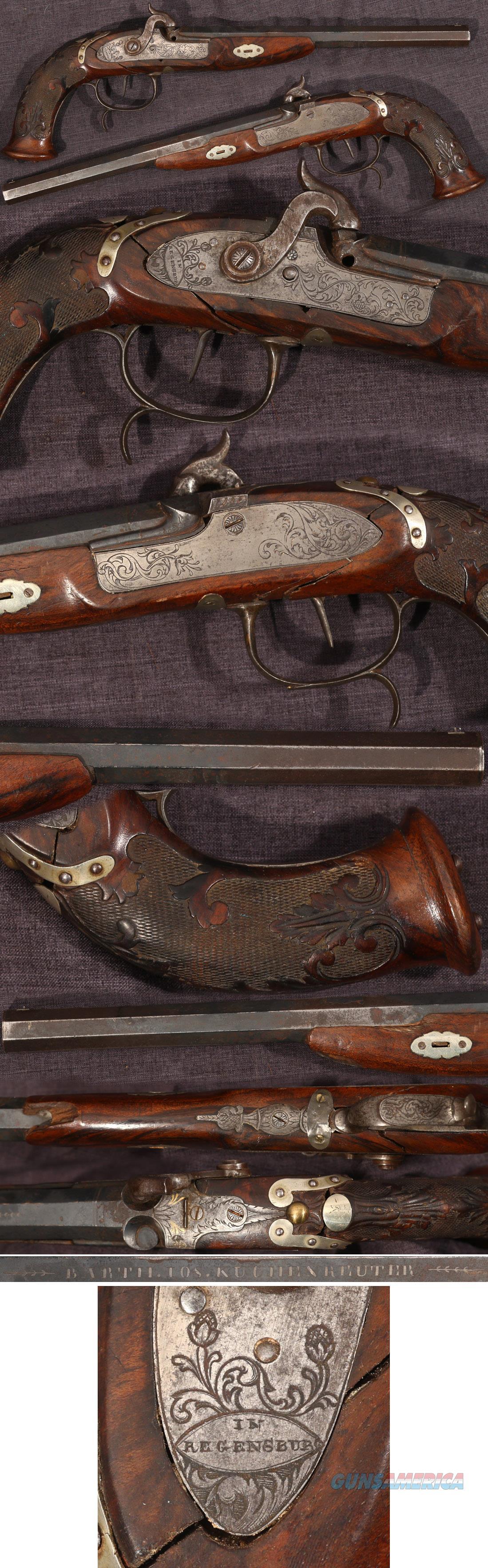 German percussion dueling pistol by Bartolomäus Joseph Kuchenreuter  Guns > Pistols > Muzzleloading Pre-1899 Pistols (perc)