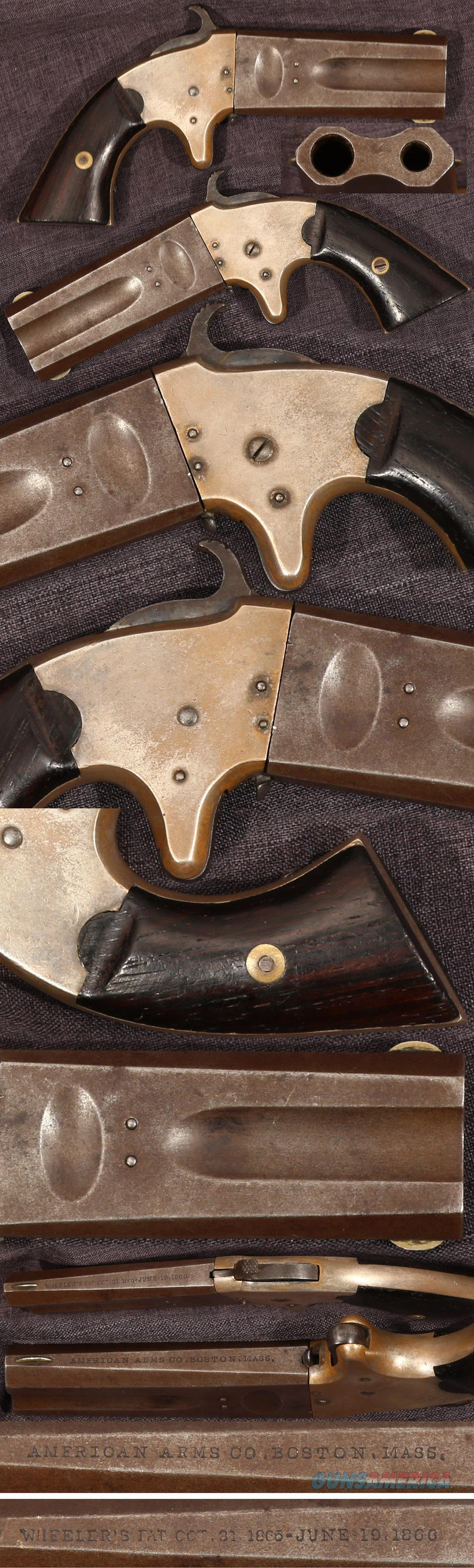 American Arms Co over-under 22/32 derringer  Guns > Pistols > Antique (Pre-1899) Pistols - Ctg. Misc.