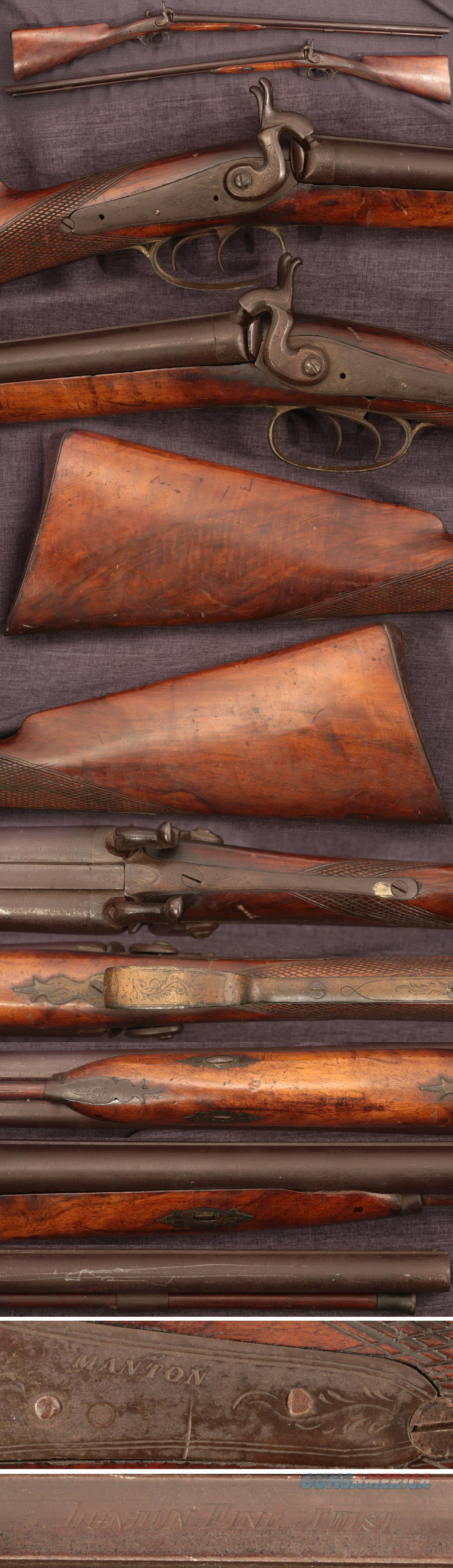 Manton double barrel percussion shotgun  Guns > Shotguns > Muzzleloading Pre-1899 Shotguns