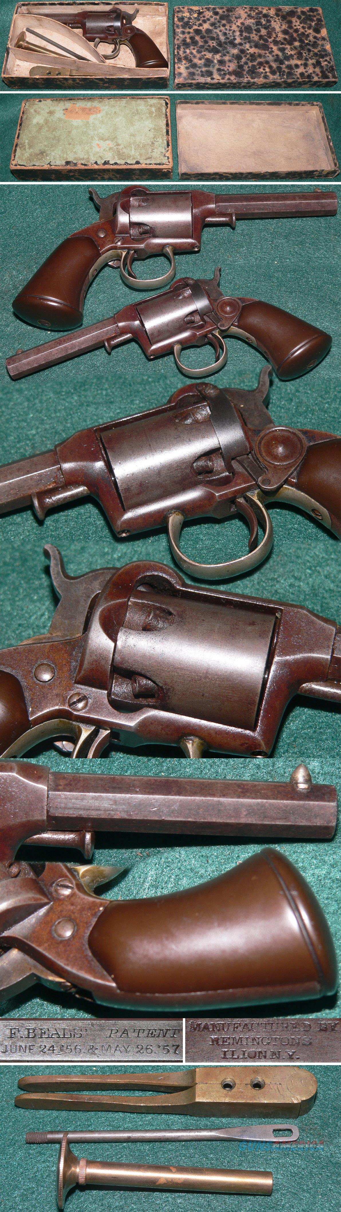 Remington 1st Model Beals pocket revolver in original box  Guns > Pistols > Remington Pistols - Pre-1899