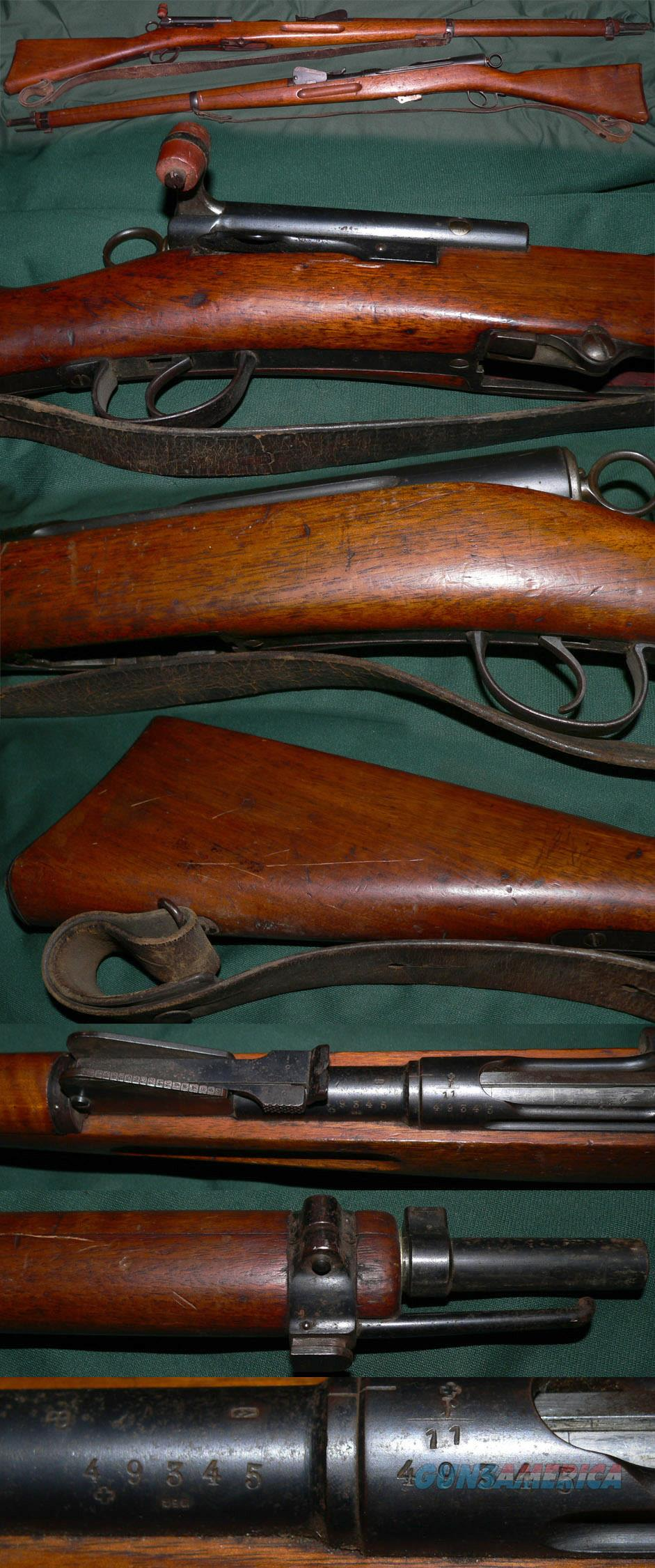 antique Swiss M1889 Schmidt-Rubin straight-pull rifle  Guns > Rifles > Antique (Pre-1899) Rifles - Ctg. Misc.