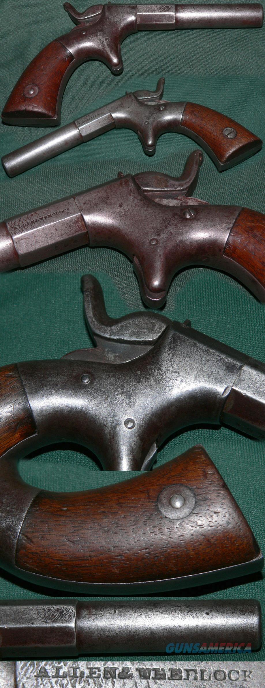 Rare Allen & Wheelock marked inline percussion pistol  Guns > Pistols > Muzzleloading Pre-1899 Pistols (perc)