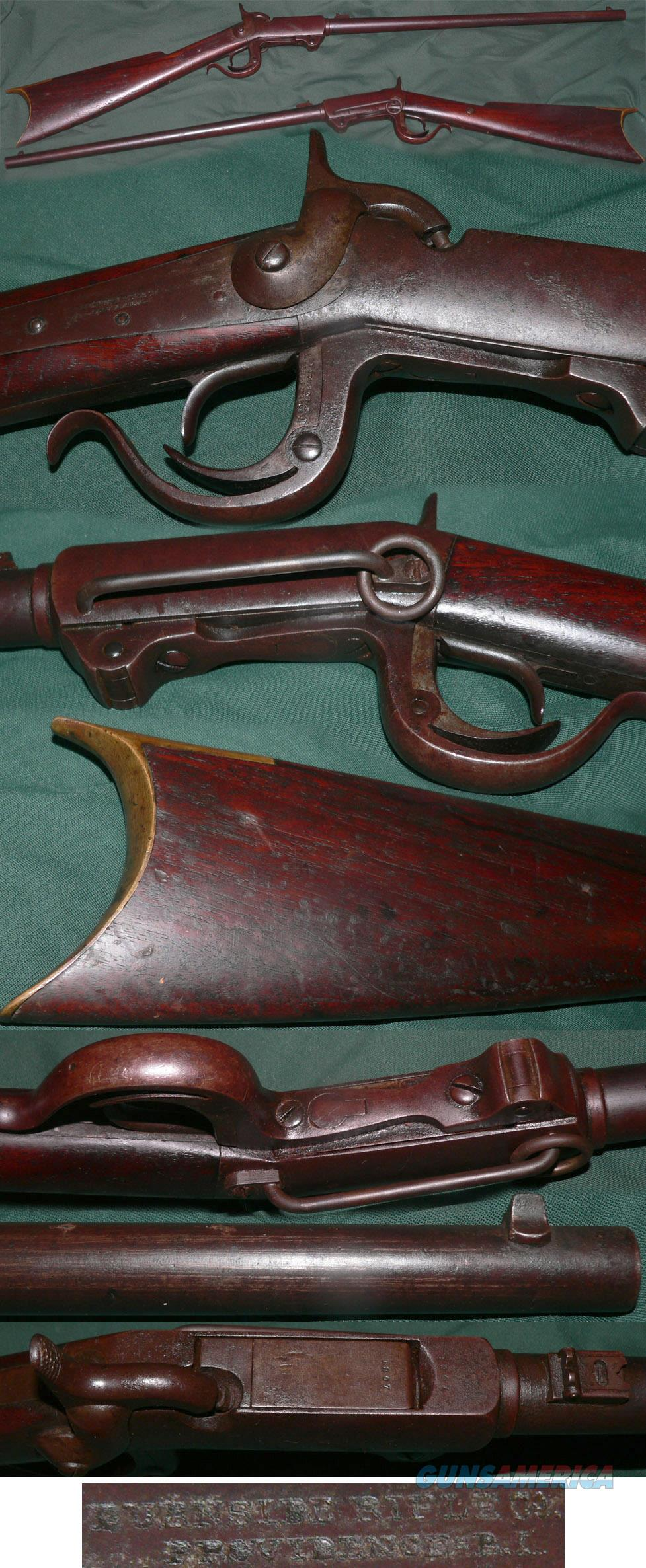 Burnside 2nd Model carbine  Guns > Rifles > Antique (Pre-1899) Rifles - Perc. Misc.