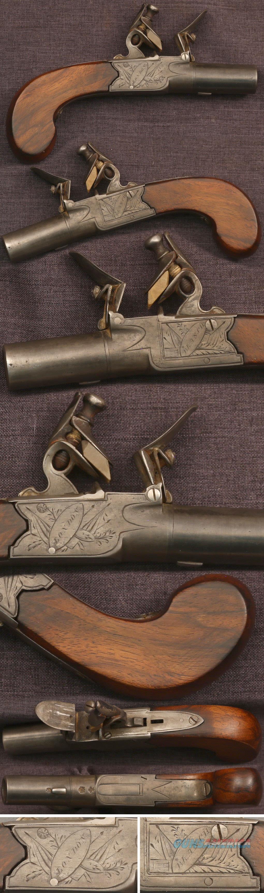 Blanch, London flintlock boxlock pistol  Guns > Pistols > Muzzleloading Pre-1899 Pistols (flint)