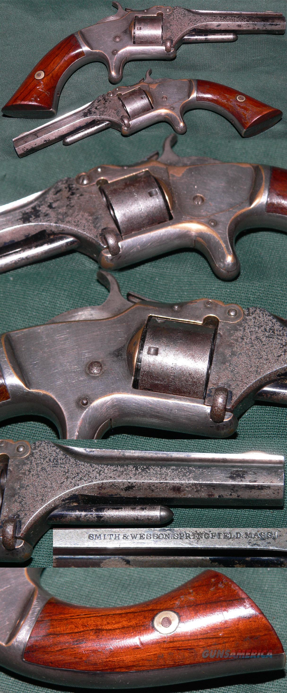 Smith & Wesson 1st Model, 2nd Issue .22 caliber revolver  Guns > Pistols > Smith & Wesson Revolvers > Pre-1899