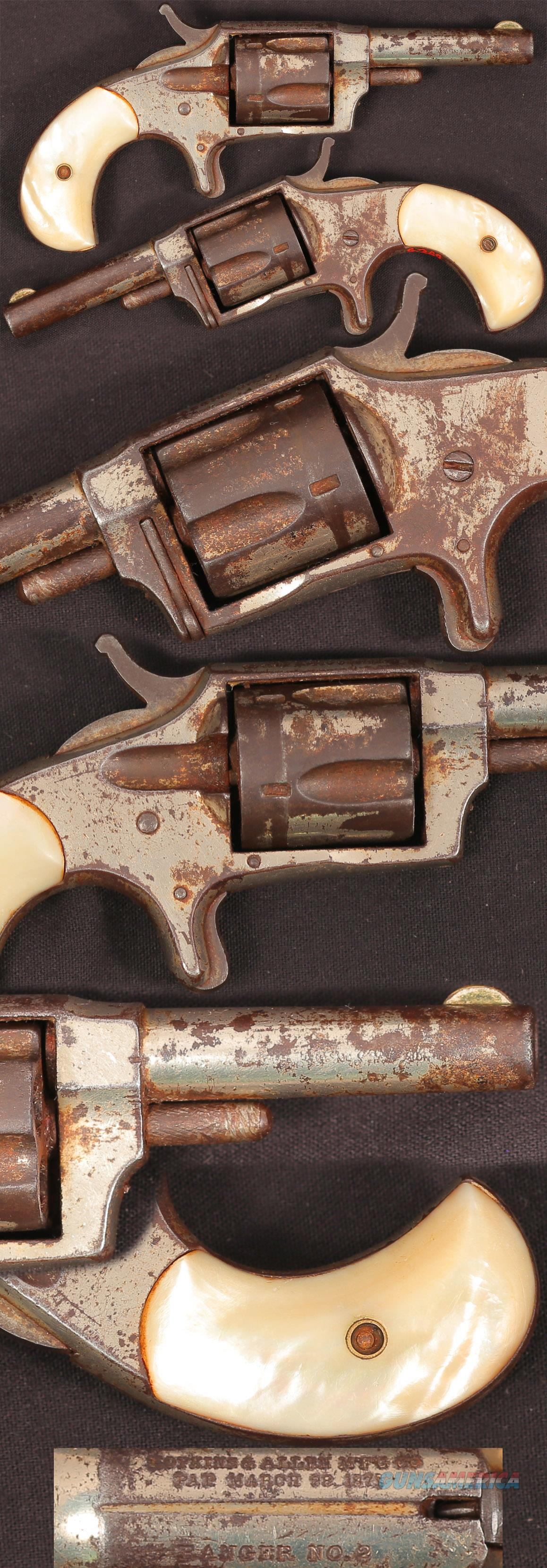 Hopkins & Allen Ranger No 2 32 revolver  Guns > Pistols > Antique (Pre-1899) Pistols - Ctg. Misc.