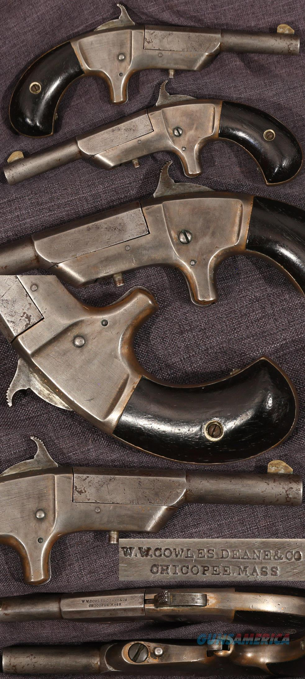 W.W.COWLES DEANE & CO marked 22 caliber derringer  Guns > Pistols > Antique (Pre-1899) Pistols - Ctg. Misc.