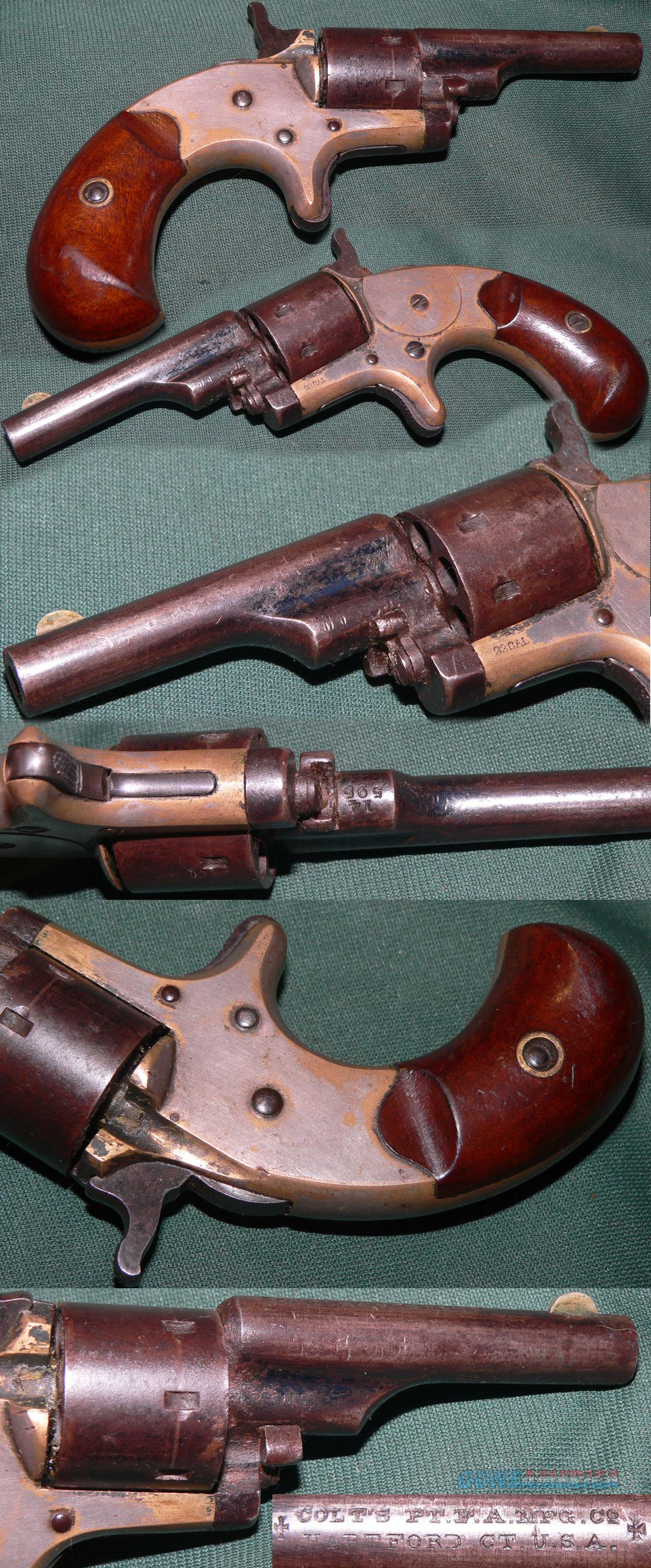 "Colt ""Open Top"" .22 caliber spur trigger revolver  Guns > Pistols > Colt Single Action Revolvers - 1st Gen."