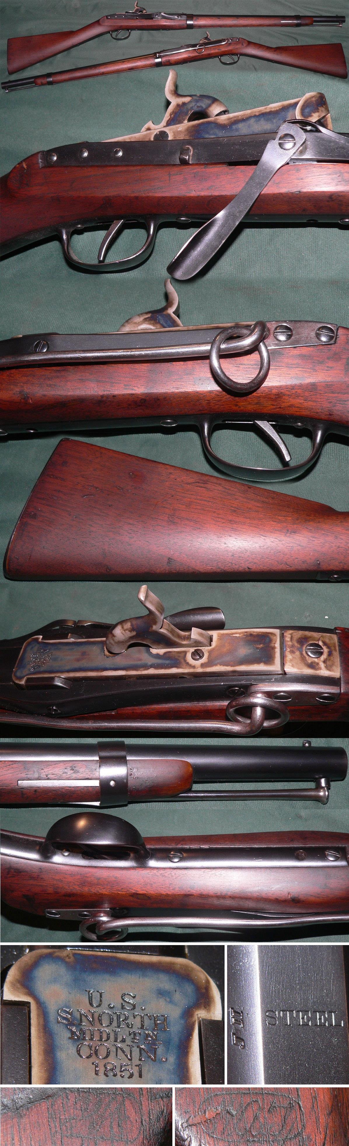 US M1843 Hall-North percussion breechloading carbine  Guns > Rifles > Antique (Pre-1899) Rifles - Perc. Misc.
