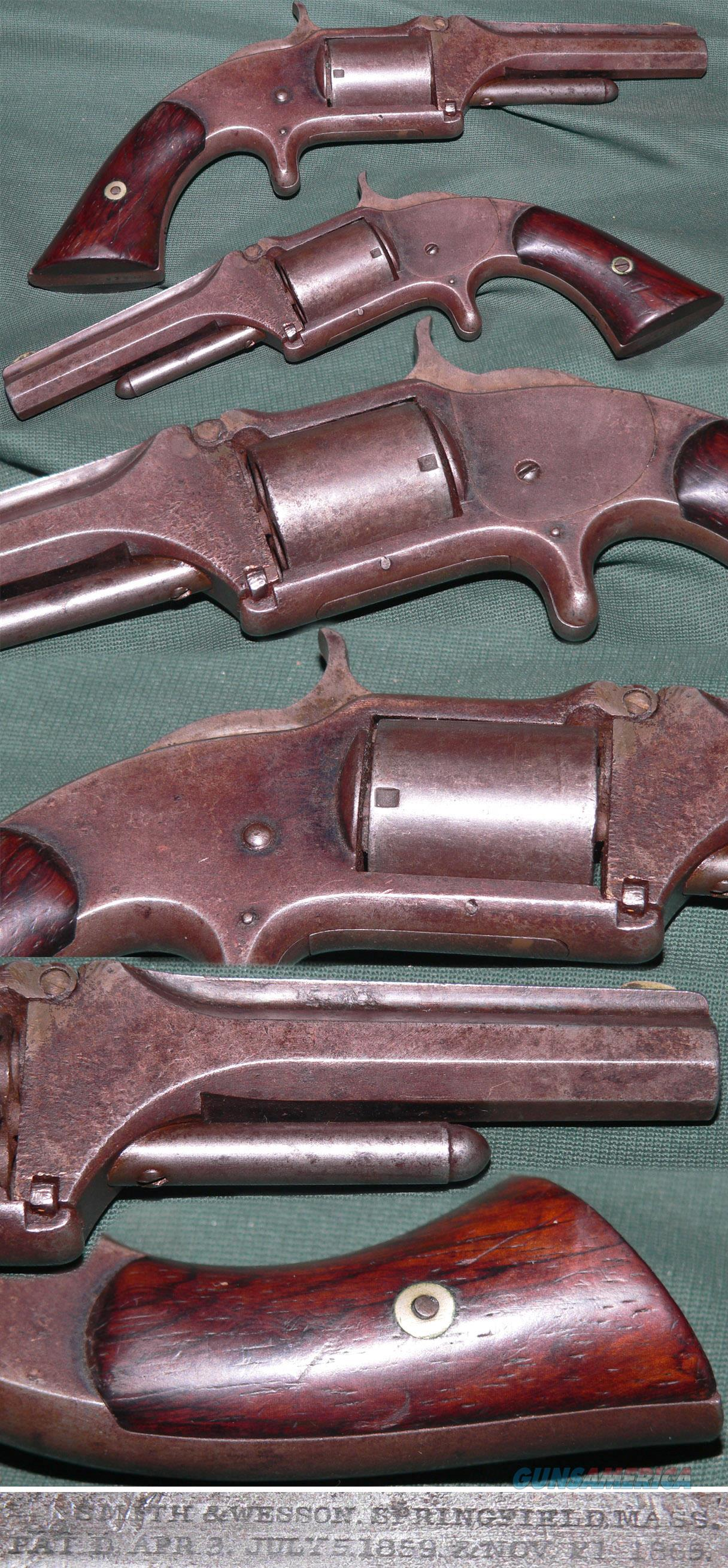 Smith & Wesson No 1-1/2 first issue revolver  Guns > Pistols > Smith & Wesson Revolvers > Pre-1899