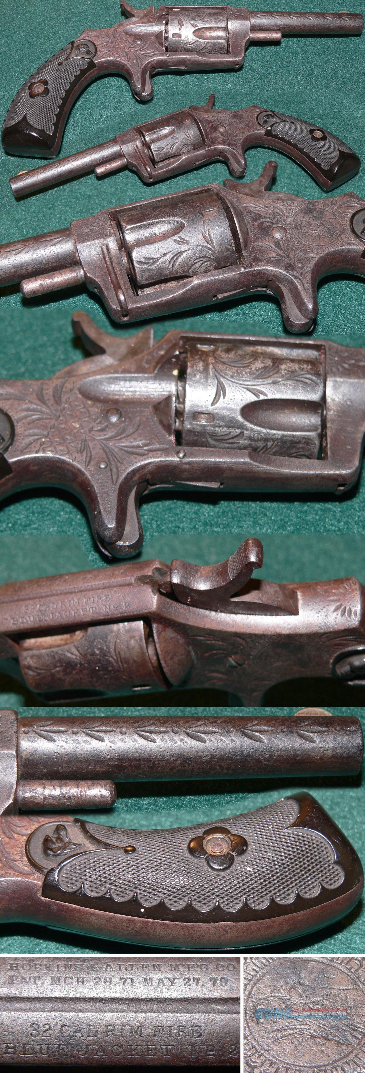 "Hopkins & Allen Blue Jacket revolver engraved with ""screaming eagle""  Guns > Pistols > Antique (Pre-1899) Pistols - Ctg. Misc."