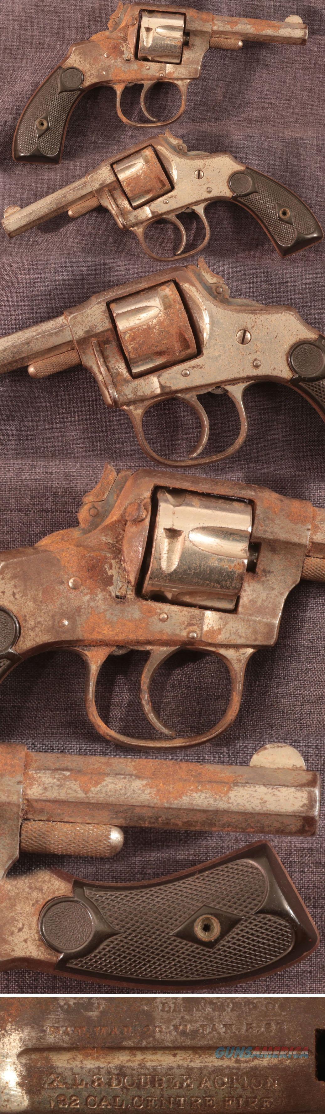 """antique Hopkins & Allen """"XL 3 Double Action 32 Centre Fire"""" revolver  Guns > Pistols > Hopkins & Allen Pistols"""