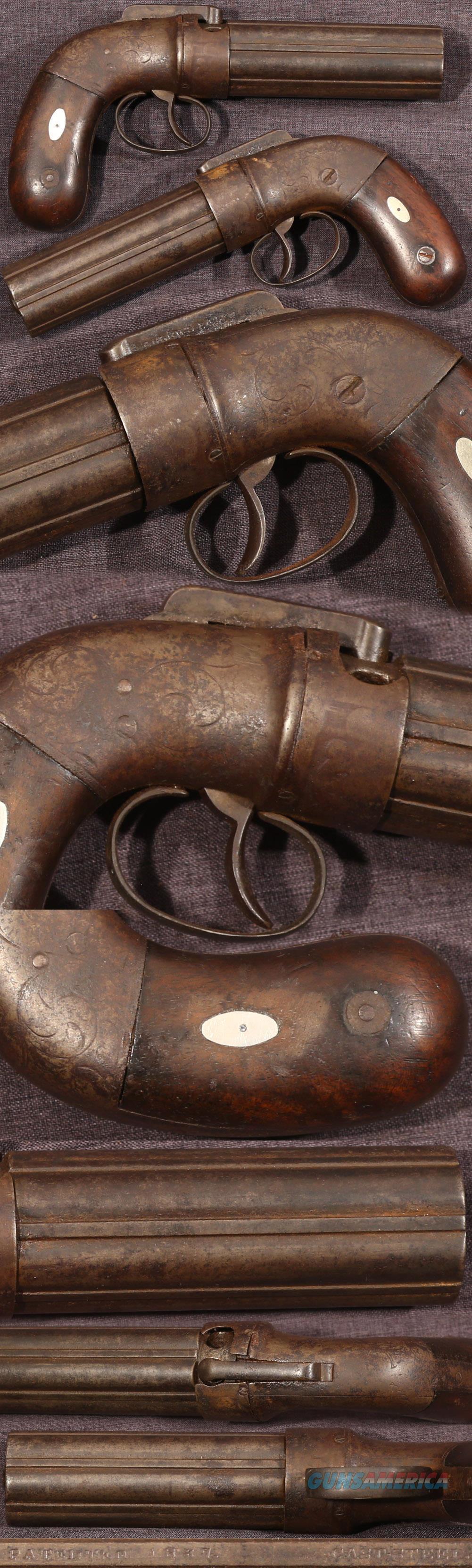 Allen's Patent Norwich percussion pepperbox  Guns > Pistols > Muzzleloading Pre-1899 Pistols (perc)
