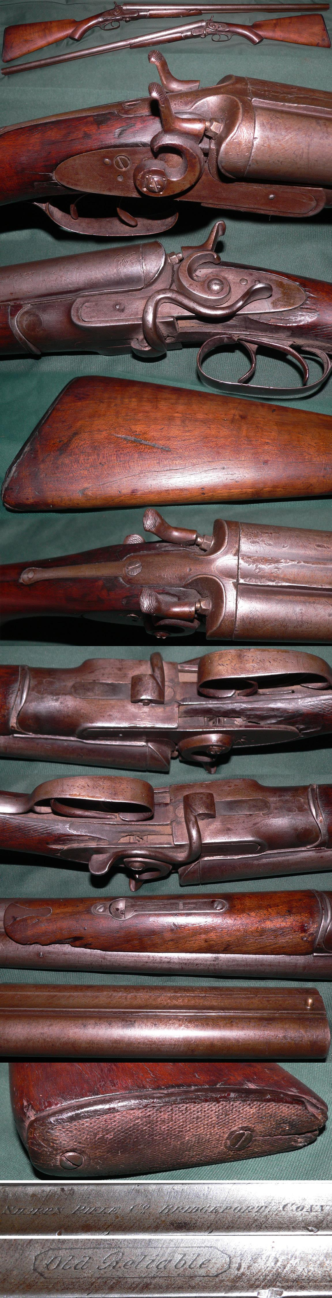 extremely rare Sharps Rifle Co. sidelever damascus shotgun  Guns > Rifles > Sharps Rifles - Pre-1899
