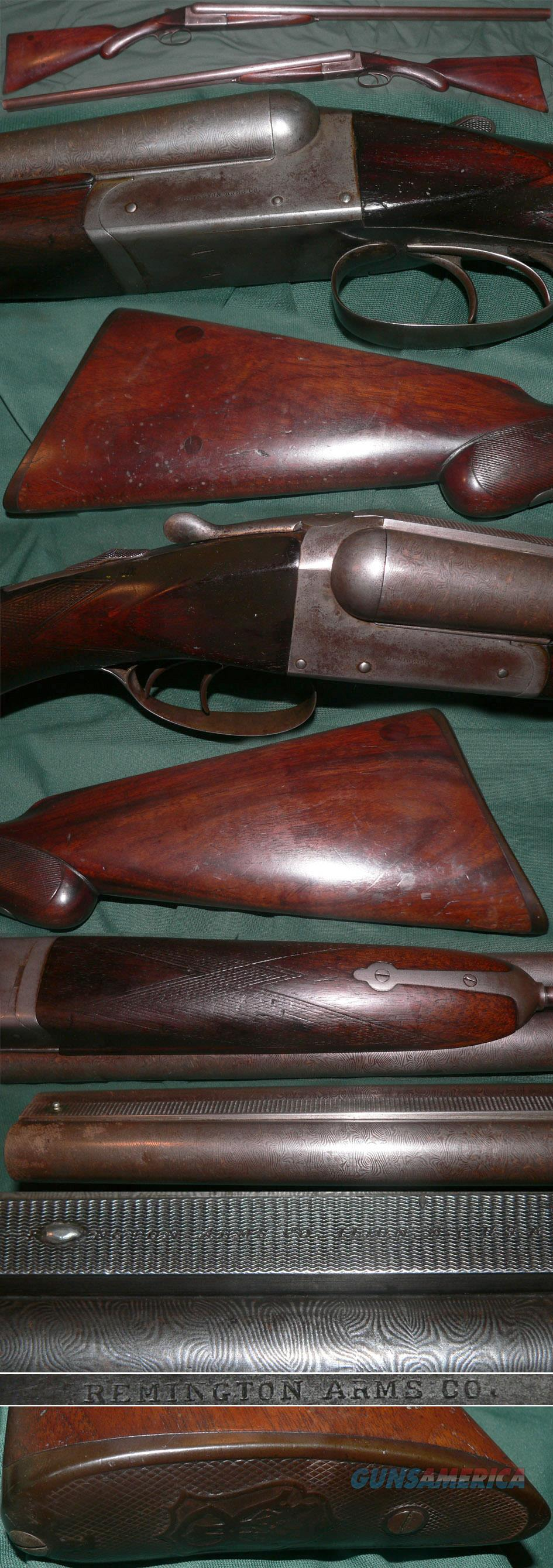 antique Remington M1894 damascus double barrel hammerless shotgun  Guns > Shotguns > Remington Shotguns  > Side x Side Pre-1899