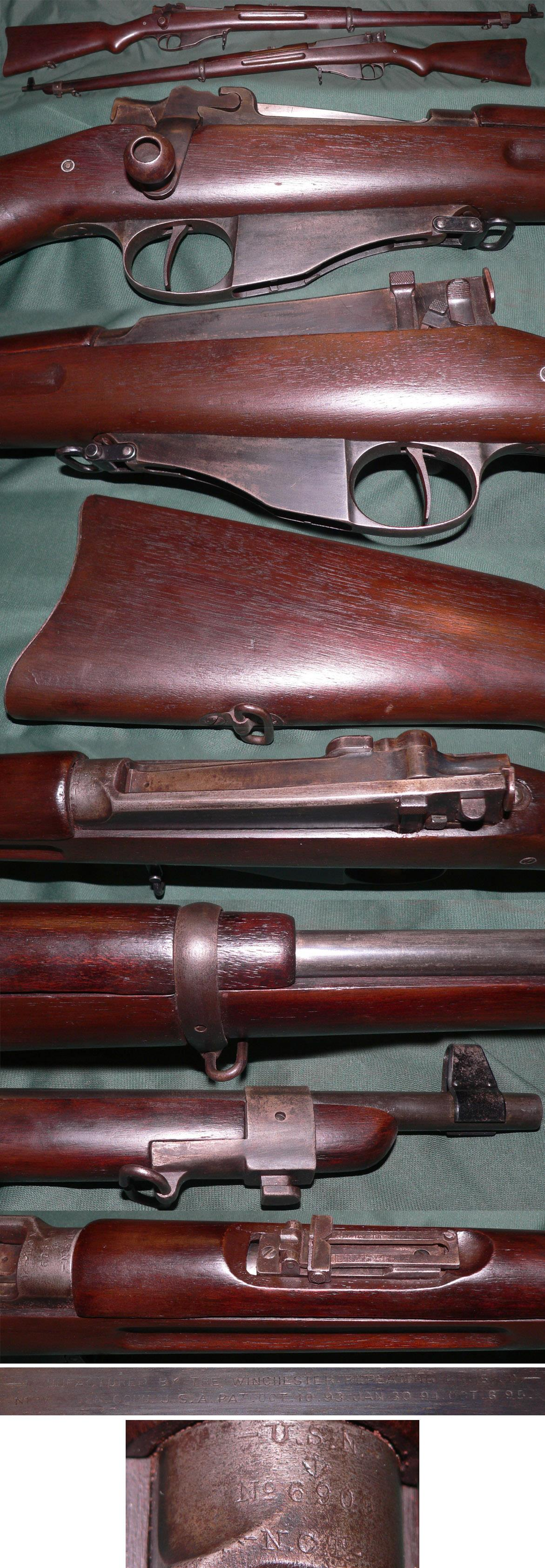 M1895 Winchester-Lee US Navy straight pull rifle  Guns > Rifles > Winchester Rifles - Pre-1899 Bolt/Single Shot