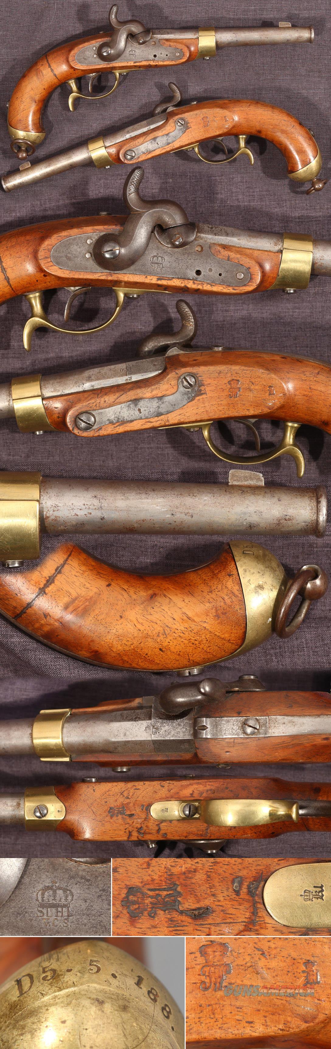 Prussian M1850 percussion cavalry pistol  Guns > Pistols > Muzzleloading Pre-1899 Pistols (perc)