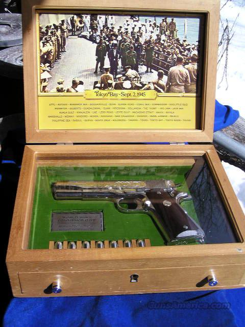 Cased COLT  1911A1 ASIATIC-PACIFIC THEATER PISTOL Semi-Auto Model  Guns > Pistols > Colt Commemorative Pistols