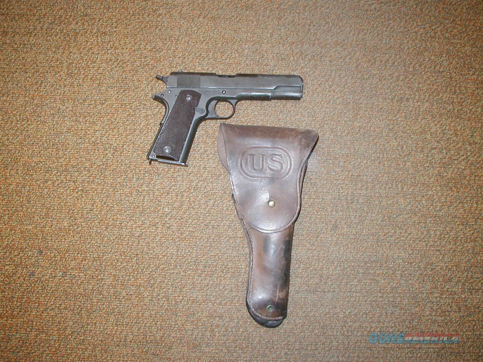 COLT 1914 US ARMY  1911 PISTOL WITH HOLSTER  Guns > Pistols > Colt Automatic Pistols (1911 & Var)