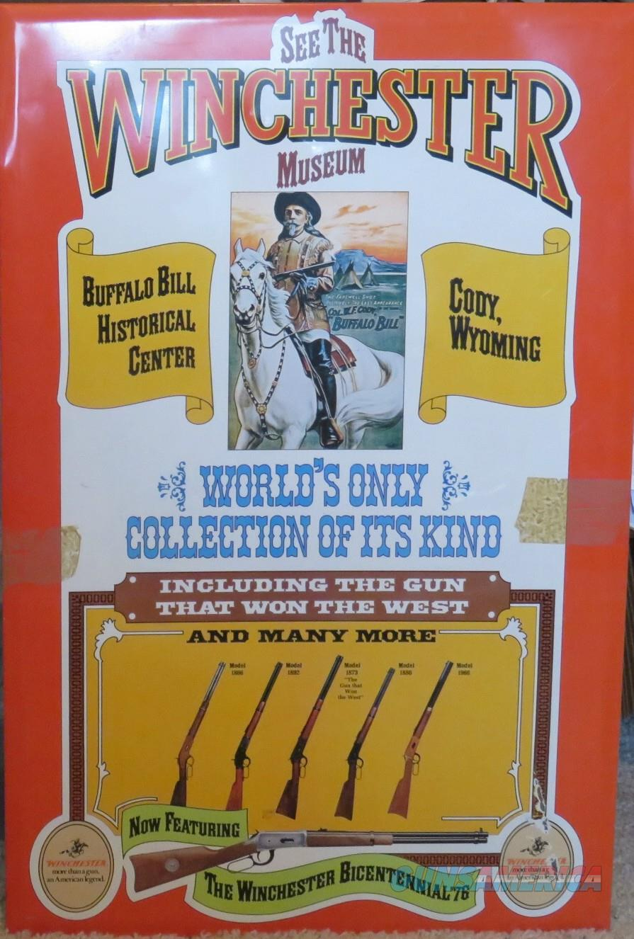"CODY MUSEUM WINCHESTER COLLECTION METAL SIGN 28"" x 18.5""  Non-Guns > Cowboy Action/Western"