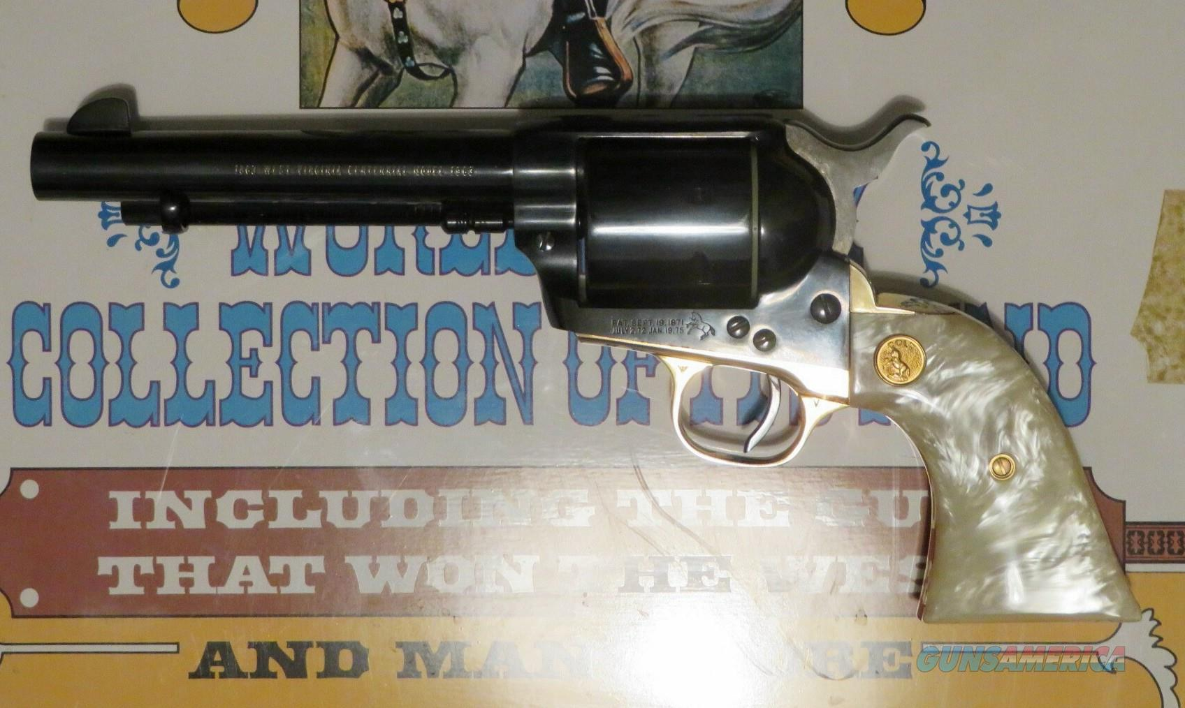 "Colt SAA  .45 X 5.5"" SECOND GENERATION NIB, Unturned, Uncocked w/ Wood Display Case  Guns > Pistols > Colt Single Action Revolvers - 2nd Gen."