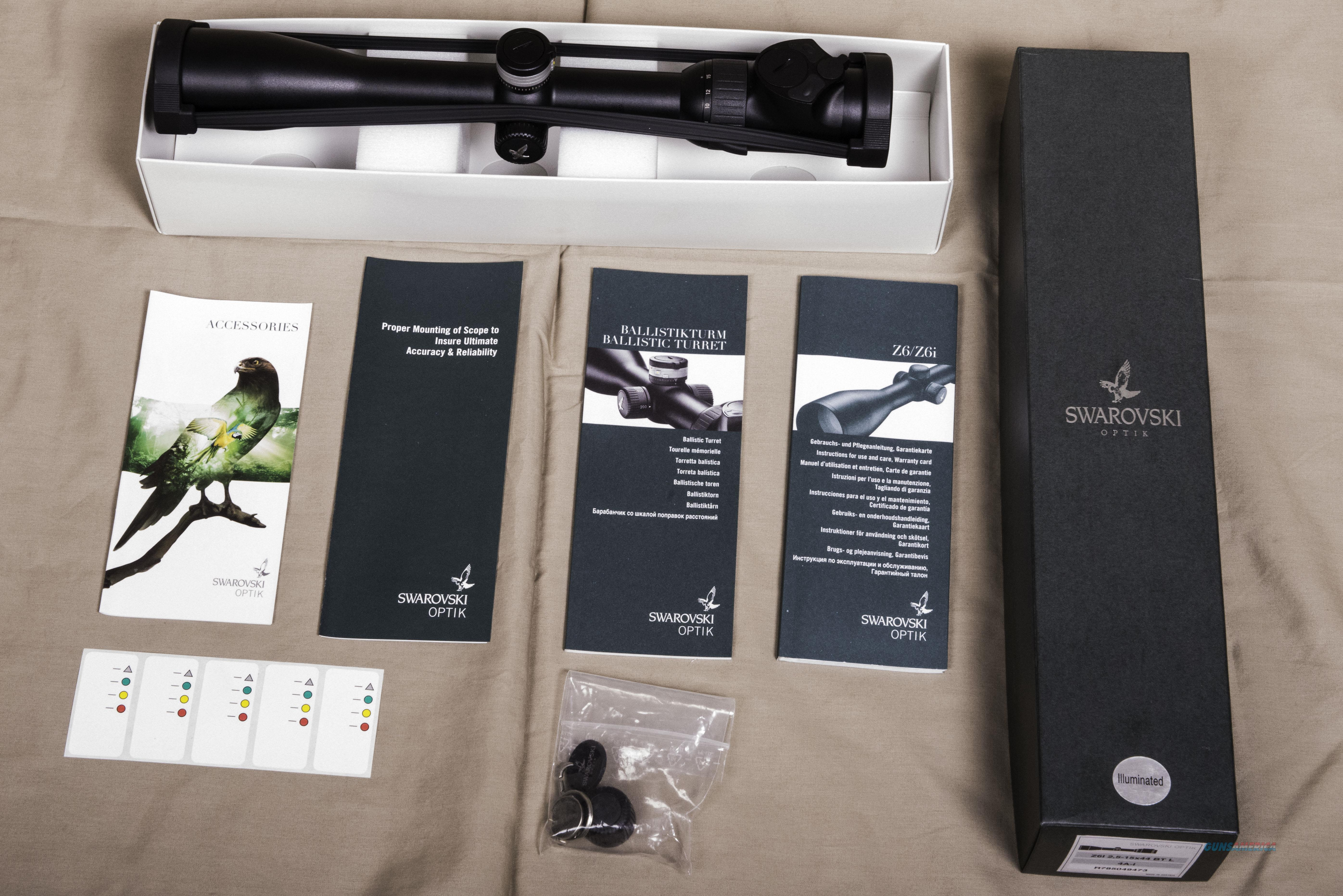 Swarovski Z6i 2.5-15 X 44 BT   Non-Guns > Scopes/Mounts/Rings & Optics > Rifle Scopes > Variable Focal Length