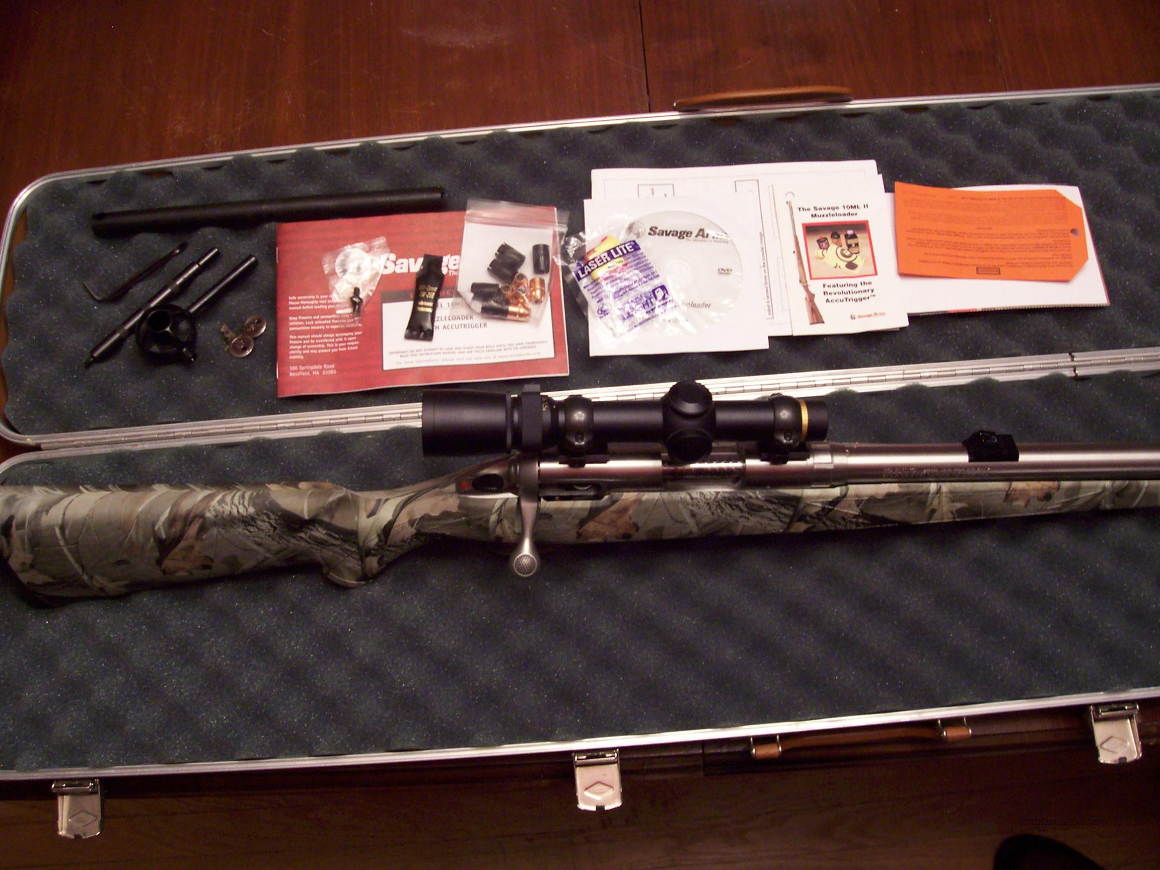 SAVAGE MLII STAIN/CAMO W/LEUPOLD  Guns > Rifles > Savage Rifles > Accutrigger Models > Sporting